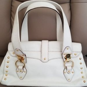Michael Kors Bags - Michael Kors Leather Gold Studs Satchel